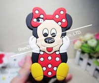 New Arrival! Free Shipping New Fashion 3D Mickey Mouse Cute Soft Back Case Cover Skin for iPhone4 4S 4G Wholesales! Hot Sale!