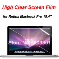 "10pcs/lot High Clear Screen Film for Retina macbook Pro 15.4"", 15.4"" retina display screen protector, retail box,free ship"