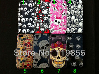 10 pcs New Big small skulls Style Hard Back Plastic Case For Apple Iphone 5 With Free Shipping -5G106