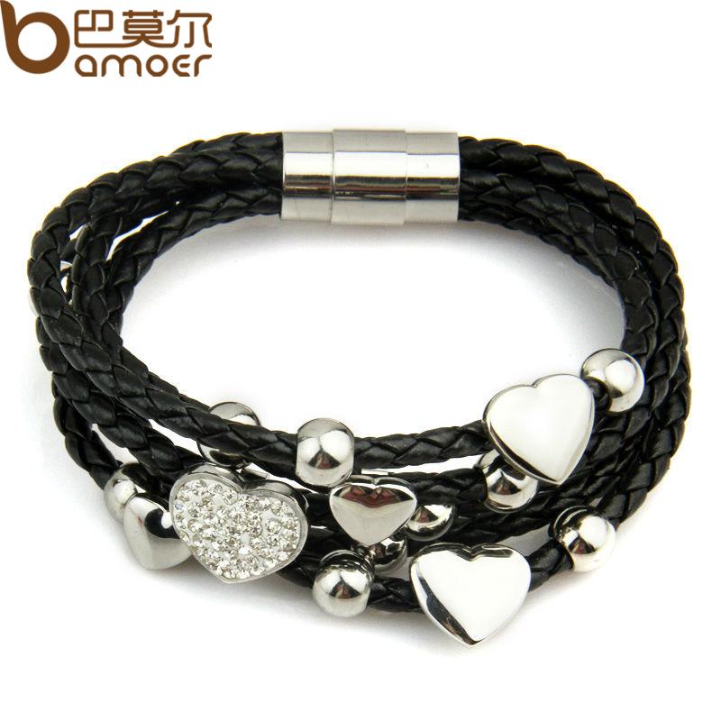 Mens Black Crystal Bracelet Crystal Bracelet Black For