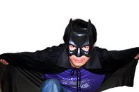 Batman Masquerade cosplay clothes halloween black cloak + mask (Adult+kids)