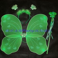 Child - - - butterfly wings set piece green