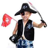 Ball halloween Christmas supplies - - - child pirate clothing piece set