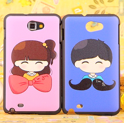 For samsung i9220 note personality lovers relief colored drawing phone case protective case shell