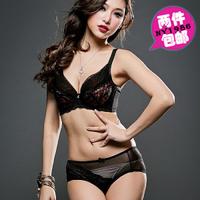 Free Shipping 2013 top hot sexy fasion women push up Seamless lace g-string thong bikini Bra brief set cotton lingerie bras sets