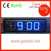 2.3 inch 4 digit Blue wall mounted LED digital clock