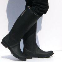 Fashion purple black 2 rain boots rainboots free shipping