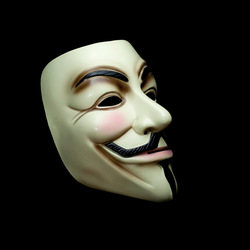 Free Shipping Vendetta Anonymous Guy Fawkes carnival Mask(adult size) light yellow(China (Mainland))