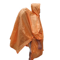 Multifunctional waterproof backpack conjoined raincoat ground cloth tentorial backpack cover four in one