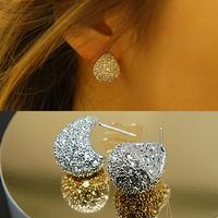 Bea Accessories Earring Drop Full Rhinestone Stud Earring 925 Needles