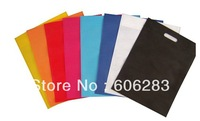 MOQ 50 PCS Blank  simple non woven shopping bag for promotion can custom logo