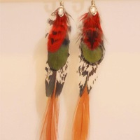 Daisychao huge rhinestone special feather mix match earrings earring