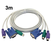 KVM VGA PS 2 Male Connect Cable for Mouse Keyboard Length 3M