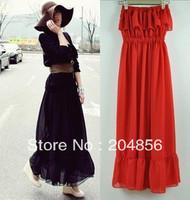 free shipping bohemia fashion full dress chiffon full dress one-piece dress slim waist tube top dress
