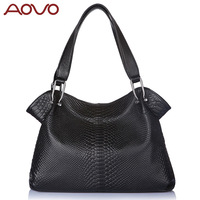 Aovo women's genuine leather handbag 2013 embossed leather women's  shoulder bags Zp2015