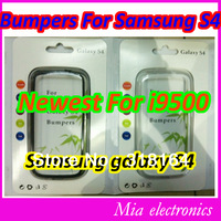 Free shipping Newest bumper case for samsung galaxy S4 i9500 with retail package case for samsung S4 I9500 10 Pcs
