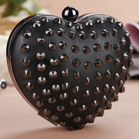 2013 punk clutch rivet evening bag shoulder bag bags channel of the women