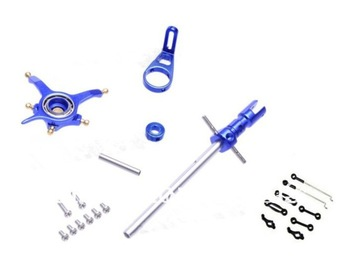 WLToys V911 4CH Helicopter CNC Alloy Metal Upgrade set & Linkage Rod Set Blue