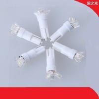 Bright t5 3 led car instrument lamp console light bulb indicator lamp warning light