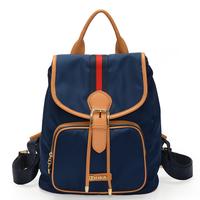 Women's handbag 2013 preppy style backpack bag brief solid color travel backpack female