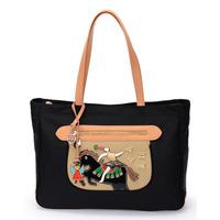 Women's handbag nylon bag color block shoulder bag big bags angel horse