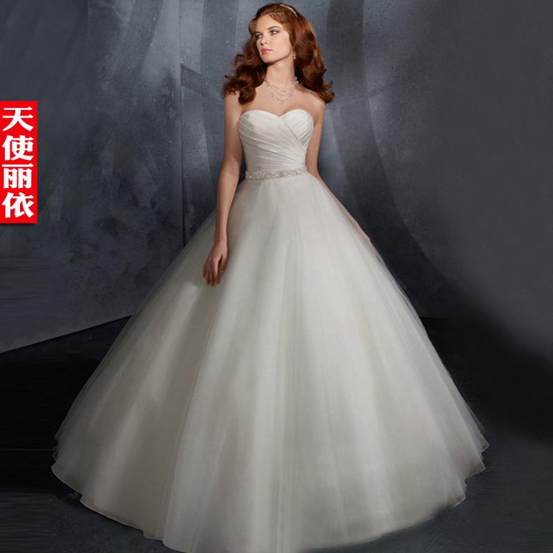 2013 Princess Wedding Dress Racerback Train Tube Top Wedding Dress Free Shipp