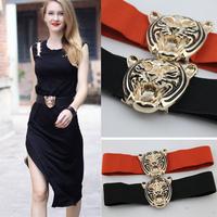 2012 fashion vintage fashion tiger women's elastic waist belt strap cummerbund female wide female belt strap