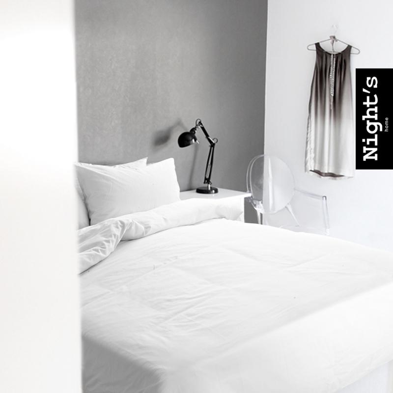 Couvre-lit de la maison de mode 100% de couverture de couette de coton 60 satin 100% coton pièce couvre-lit réglé 1.8 metros lit blanc(China (Mainland))