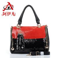 Hot-selling 2013 women's spring handbag fashion paillette lace bag messenger bag female