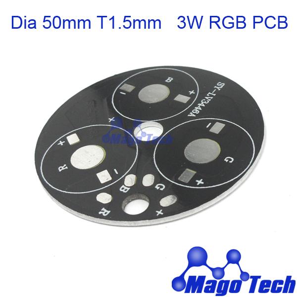 DHL/FEDEX/EMS Free shipping- Dia 50mm T 1.5mm 3W RGB aluminum circular plate BASE LED high power board PCB(China (Mainland))