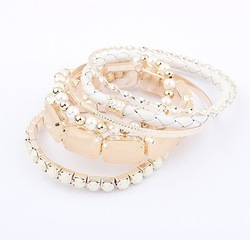 Min. order is $10(mix)Fashion hot sale vintage multilayer Bohemian charm bead bracelets bangles pendant jewellry set SPX2383(China (Mainland))