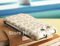 1pcs/lot free ship Leopard leather flip credit card case for Samsung galaxy s3 i9300 +1pcs film