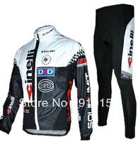 FREE SHIPPING 2010 Cinelli thermal cycling long sleeve jersey and pants set