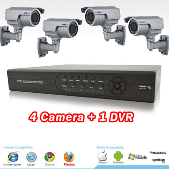 2014 Sale Top Fasion Freeshipping Security System Cftv Security Camera System Cctv Camera + 4ch Dvr