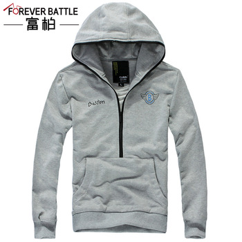 Fubai autumn new arrival male slim all-match pullover with a hood sweatshirt outerwear
