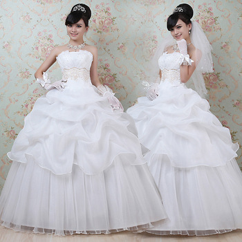 New arrival 2013 tube top  princess  sweet elegant wedding dress Free Shipping