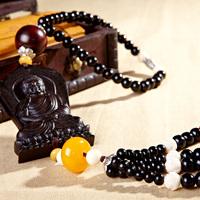 Ebony tibetan jewelry beads car pendant