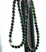 Collection luxury 's top natural green tourmaline 6mm beads necklace