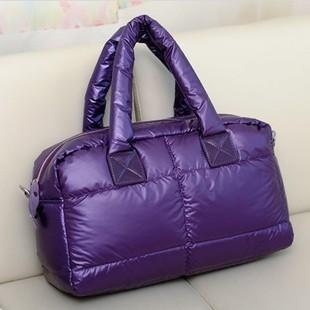 2012 winter cotton-padded jacket women's handbag messenger bag handbag bag down coat space bag women's handbag