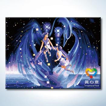 Colored drawing diy digital oil painting luminous series - 60 80