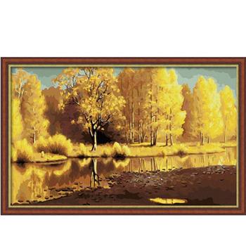 Diy digital oil painting landscape painting 50 80cm belt in frame