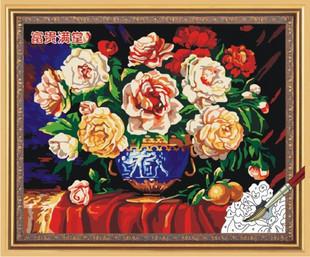 Diy digital oil painting decorative painting rich 60 75