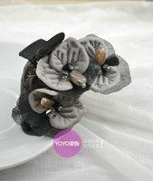 Hair accessory fabric flower hair accessory handmade beaded Large gripper hair caught hairpin