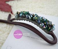 High quality hair accessory beaded crystal hairpin twist clip vertical clip hair accessory