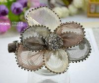 Hair accessory hairpin chiffon flower clip spring clip hair accessory hair pin accessories