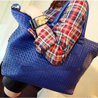 Fashion 2013 women's handbag brief shoulder bag woven bag faux shopping bag handbag messenger bag