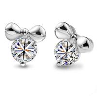 Mini MICKEY stud earring 925 pure silver stud earring silver jewelry