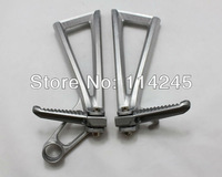 Motorcycle parts Silver Rear Passenger Foot Pegs Bracket For Yamaha YZF R6 2003 2004 2005 For Yamaha YZF R6S 2006-2010
