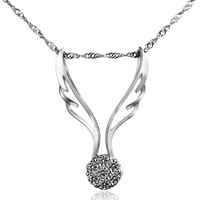 Anti-allergic 925 pure silver necklace pendant silver jewelry