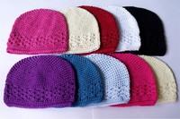Hot Sell Crochet Kufi Hat Cap Beanie lady size 100%cotton